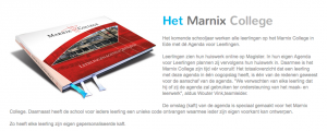 Marnix College Leerlingenagenda kaft